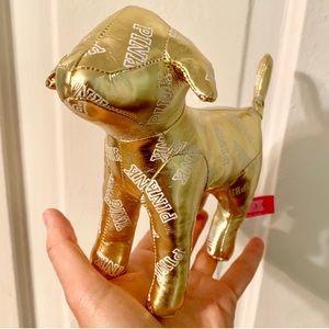 Victoria's Secret golden stuffed dog